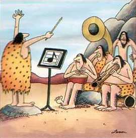 Elegante orquestra musical dos tempos do Homem de Neandertal.